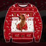 Holiday Dachshund Ugly Christmas Sweater, All Over Print Sweatshirt
