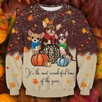 Cute Chihuahua Thanksgiving Ugly Christmas Sweater, All Over Print Sweatshirt