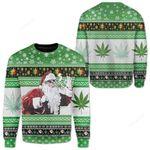 Santa Ugly Christmas Sweater, All Over Print Sweatshirt