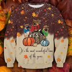 Cute German Shepherd Dog Thanksgiving Ugly Christmas Sweater, All Over Print Sweatshirt