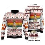 Best Yorkie Dad Ever Ugly Christmas Sweater, All Over Print Sweatshirt