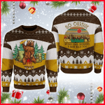 A Bear With Beer Vintage Camping  Ugly Christmas Sweater, All Over Print Sweatshirt