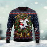 Unicorn Christmas Is Magical Ugly Christmas Sweater, All Over Print Sweatshirt