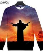 Harajuku Mount Jesus Brazil All Over Print Sweatshirt