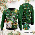 Ho Ho Ho Cow Christmas Tree Ugly Christmas Sweater, All Over Print Sweatshirt