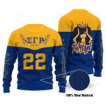 Sigma Gamma Rho Limited Edition Wool  Ugly Christmas Sweater, All Over Print Sweatshirt