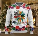 Hippie Soul Ugly Christmas Sweater, All Over Print Sweatshirt