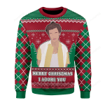 Merry Christmas I Adore You Ugly Christmas Sweater, All Over Print Sweatshirt