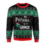 My Patronus Is A Grinch Ugly Christmas Sweater, All Over Print Sweatshirt