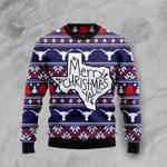 Merry Christmas Ya'll  Ugly Christmas Sweater, All Over Print Sweatshirt