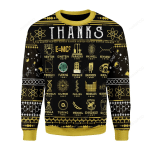 Thanks Science Ugly Christmas Sweater, All Over Print Sweatshirt