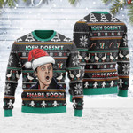 Joey Doesn't Share Food Ugly Christmas Sweater, All Over Print Sweatshirt