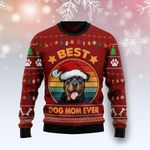 Rottweiler Best Dog Mom Ever Ugly Christmas Sweater, All Over Print Sweatshirt