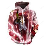 Anime Pattern Illustration Action 3D All Over Print Hoodie, Zip-up Hoodie