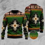 Southwest Green Symbol Ugly Christmas Sweater, All Over Print Sweatshirt