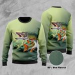 Fishing Ugly Christmas Sweater, All Over Print Sweatshirt