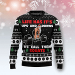 Santa Clause Life Has Its Up And Down Ugly Christmas Sweater, All Over Print Sweatshirt