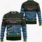 Merry Fishmas Ugly Christmas Sweater, All Over Print Sweatshirt