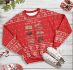 Book Lovers Things I Do Ugly Christmas Sweater, All Over Print Sweatshirt