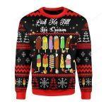 Lick Me Till Ice Cream Ugly Christmas Sweater, All Over Print Sweatshirt