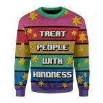 Treat People With Kindness Ugly Christmas Sweater, All Over Print Sweatshirt