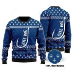 Bite Me Ugly Christmas Sweater, All Over Print Sweatshirt