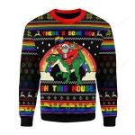 There's Some Hos In This House Ugly Christmas Sweater, All Over Print Sweatshirt