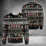 Its Ok To Be Different Autism Ugly Christmas Sweater, All Over Print Sweatshirt