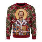 John Ugly Christmas Sweater, All Over Print Sweatshirt