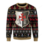Knight Templar Ugly Christmas Sweater, All Over Print Sweatshirt
