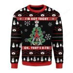 I'm Not Tachy Funny Nurse Ugly Christmas Sweater, All Over Print Sweatshirt
