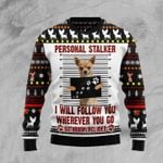 Chihuahua Personal Stalker Ugly Christmas Sweater, All Over Print Sweatshirt