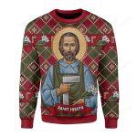 Saint Joseph Ugly Christmas Sweater, All Over Print Sweatshirt