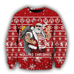 Scottish Gangster Santa Red Ugly Christmas Sweater, All Over Print Sweatshirt