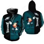 Philadelphia Eagles Mickey Mouse 3D All Over Print Hoodie, Zip-up Hoodie