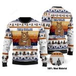 Bear I Hate People Ugly Christmas Sweater, All Over Print Sweatshirt