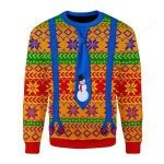 LGBT With Tie Ugly Christmas Sweater, All Over Print Sweatshirt