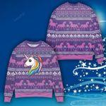 Unicorn Ugly Christmas Sweater, All Over Print Sweatshirt