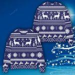 Snowflake And Christmas Tree Ugly Christmas Sweater, All Over Print Sweatshirt