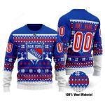 New York Rangers Ugly Christmas Sweater, All Over Print Sweatshirt