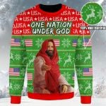 One Nation Under God Ugly Christmas Sweater, All Over Print Sweatshirt