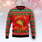 Body By Tacos Ugly Christmas Sweater, All Over Print Sweatshirt