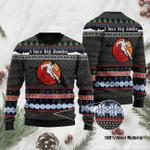 Skiing I Love Big Dumbs Ugly Christmas Sweater, All Over Print Sweatshirt