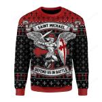 Saint Michael Ugly Christmas Sweater, All Over Print Sweatshirt