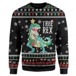 Tree Rex Xmas Dinosaur Ugly Christmas Sweater, All Over Print Sweatshirt
