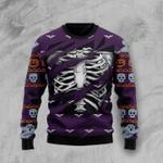 Skeleton Ugly Christmas Sweater, All Over Print Sweatshirt