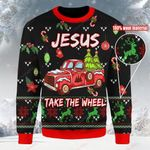 Jesus Take The Wheel Ugly Christmas Sweater, All Over Print Sweatshirt