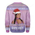 Cardi B All I Want For Christmas Is Shmoney Ugly Christmas Sweater, All Over Print Sweatshirt