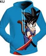 Dragon Ball Z Kid Goku 3D All Over Print Hoodie, Zip-up Hoodie