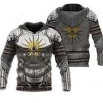 Macedonia Armor Of Warrior 3D All Over Print Hoodie, Zip-up Hoodie